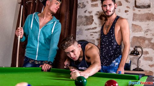 Three Twink holes on the pool table 4