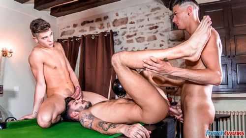 Three Twink holes on the pool table 25