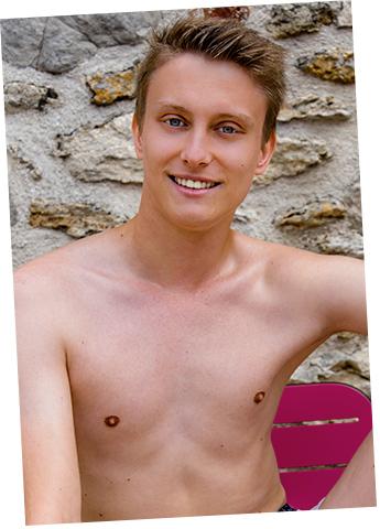 Gay Twink Porn Model Bastien